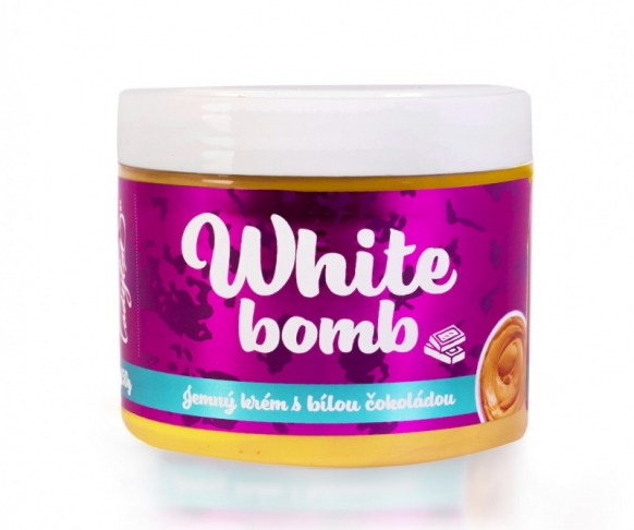 WHITE BOMB arašídový krém s bílou čokoládou, 1 kus