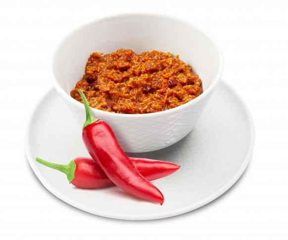 Červené fazolky na chilli v prášku, 7 kusů