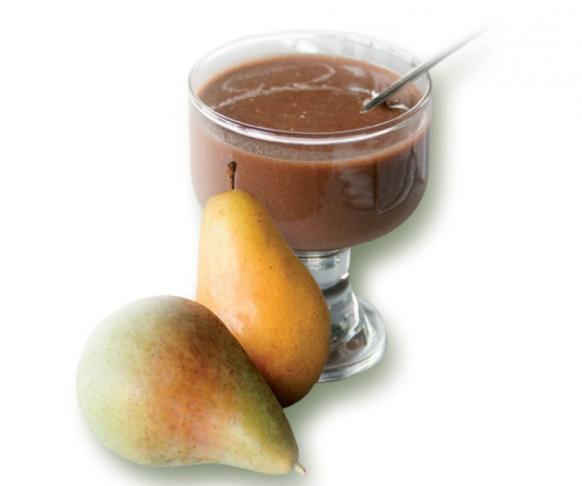 Dezert s čokoládovo-hruškovou příchutí v prášku, 7 kusů