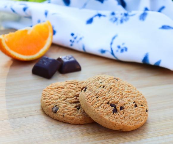 Cookie s příchutí pomeranče s kousky čokolády, 7 kusů