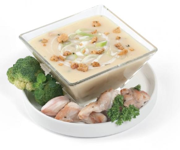 Drůbeží polévka s krutóny, 7 kusů