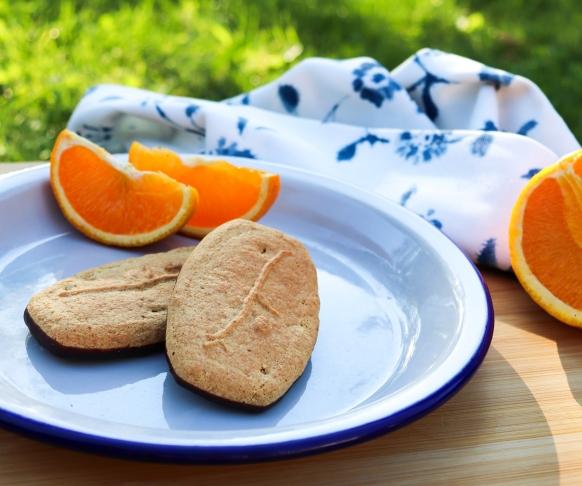 Polomáčená sušenka s příchutí pomeranče, 7 kusů